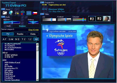 Televizní signál je velmi kvalitní