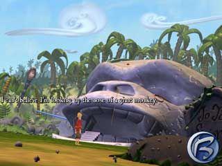 Jů, to je druhá největší opičí hlava jakou jsem kdy viděl!