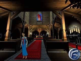 Ani zpovědi v kostele se během hraní Mrazíka nevyhnete