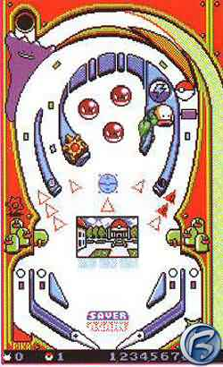 Pokémon Pinball - červený stůl