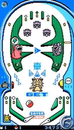 Pokémon Pinball - modrý stůl