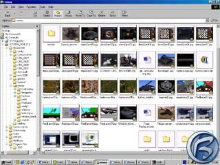 Průzkumník (Windows Explorer) se zapnutými thumbnaily