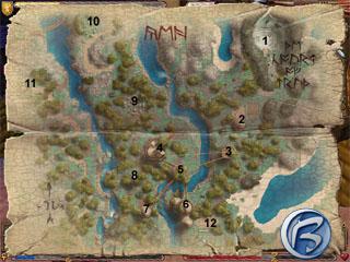 Mapka města Yew