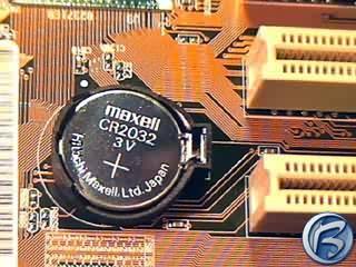 Záložní baterie na motherboardu