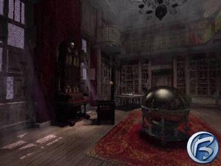 Dracula: Resurrection - zaprášená Drákulova pracovna je plná tajných skrýší a tlačítek