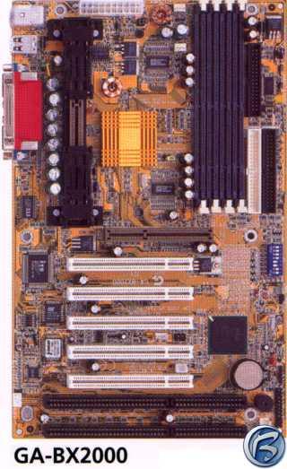 Obrázek testovaného motheboardu GA-BX2000