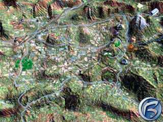 Herní mapka s asi dvěma desítkami lokací, které během hry navštívíte