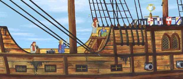 Oba dva piráty Severín v míru přesvědčil o výhodách skoku vstřemhlav do vody s dělovou koulí v náručí...