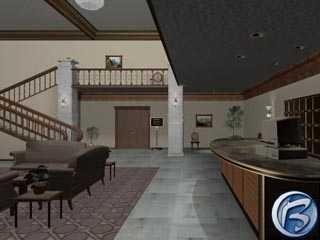 Vstupní hotelová hale je asi nejkrásněji vymodelovanou místností ve hře