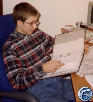 Jarek Kolář v 18ti letech (rok 1995)