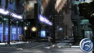Takhle nějak vypadají ulice NewPortu - plné blikajících neonů a povalujících se odpadků
