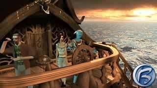 Nezapomenutelná plavba na lodi. A pozor - ty vlny napravo se skutečně plynule pohybují