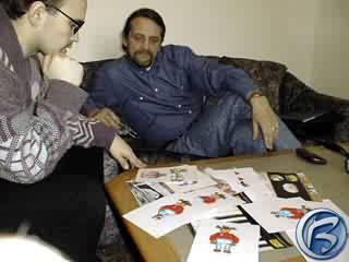 Viktor Bocan a Honza Štěpánek (hlavní grafik)