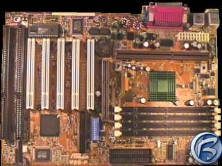 Celkový pohled na základní desku Asus P3B-F
