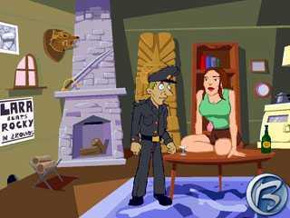Podnapilá Lara se právě chystá na své striptýzové vystoupení