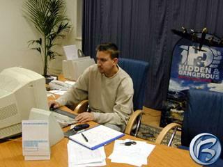 Petr Vochozka u pracovního stolu
