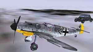I vnejslabším rozlišení jsou letadla a pozemní technika vymodelovány do nejmenších detailů. Chybí však průsvitný kruh rotující vrtule