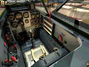 V muzeu si je možné prohlédnout i kokpit tryskového Messerschmittu Me262