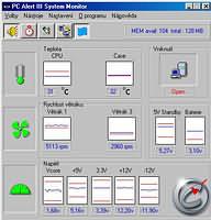 PC Alert III System Monitor - větší obrázek z programu