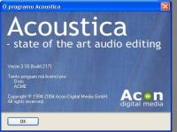 Acoustica 3.10 - větší obrázek z programu