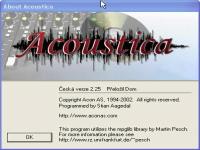 Acoustica - větší obrázek z programu