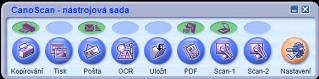 CanoScan Toolbox  - větší obrázek z programu