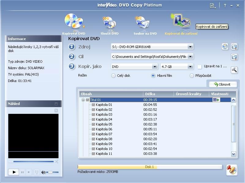 InterVideo DVD Copy 5 - větší obrázek z programu
