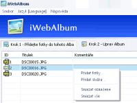iWebAlbum - větší obrázek z programu