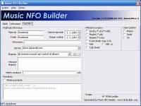 Music NFO Builder - větší obrázek z programu