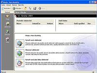 Nero BackItUp - větší obrázek z programu