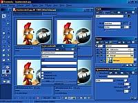 Macromedia Fireworks 4.0.1 - větší obrázek z programu