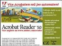Adobe Acrobat Reader 5.0 - větší obrázek z programu
