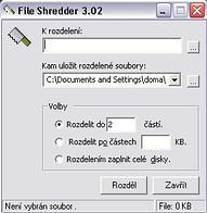 File Shredder - větší obrázek z programu