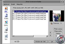 2Flyer Screensaver Builder - větší obrázek z programu