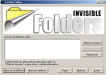 Invisible Folders - větší obrázek z programu