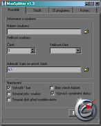 MaxSplitter 1.3 - větší obrázek z programu