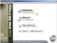 Outlook 2000 / XP backup 5.0 - větší obrázek z programu