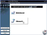 Outlook 2000 / XP backup 2.5 - větší obrázek z programu