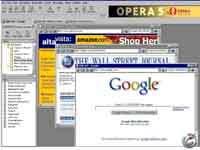 Opera 5.00 - celý obrázek