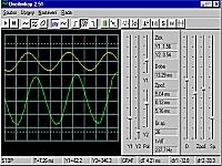 Osciloskop pro Windows - větší obrázek z programu