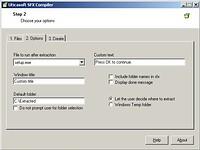 SFX Compiler - větší obrázek z programu