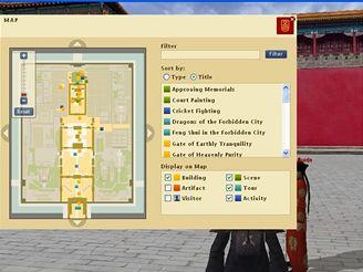 Zakázané město - mapa