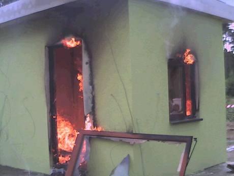 Průběh požáru