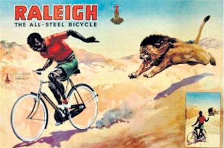 Reklama na kola Raleigh