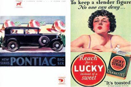 Reklama na Pontiac a Lucky Strike