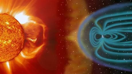 Vizualizace geomagnetické bouře