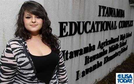 Studentka Constance McMillenová z Mississippi (11. března 2010)