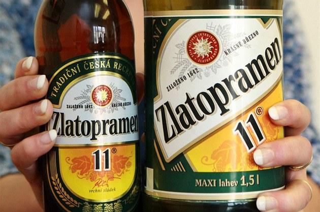 Zlatopramen vede český trh s pivy v plastových lahvích