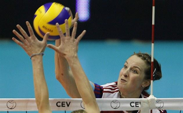 Česká univerzálka Aneta Havlíčková ve čtvrtfinále ME proti Německu.