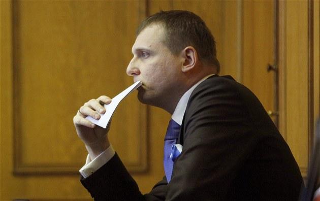 Vít Bárta během jednání Obvodního soudu pro Prahu 5. (9. března 2012)